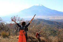 石割山から見た絶景の富士山